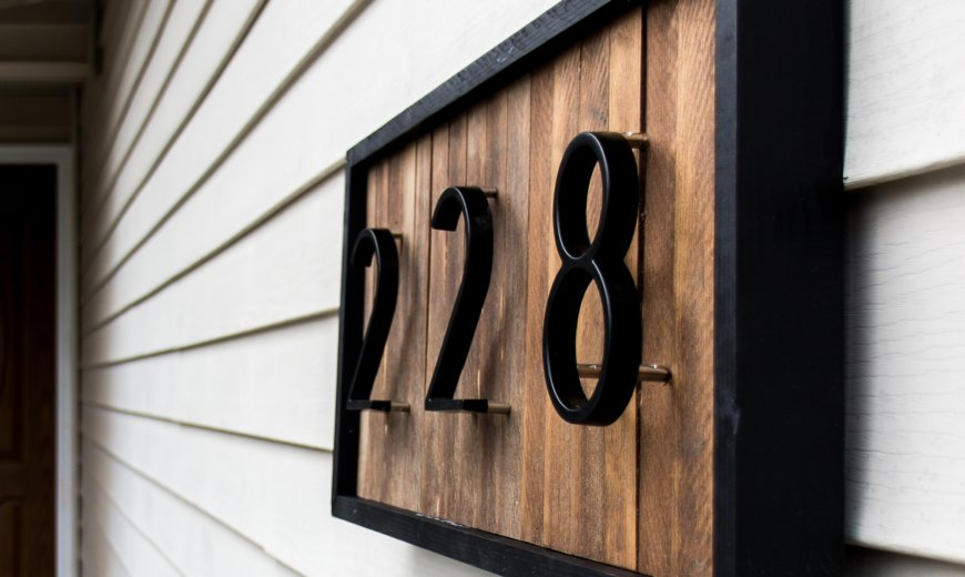 20 Creative House Number Ideas To Show Off To Your Neighbors