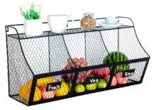Fresh produce in divided bin