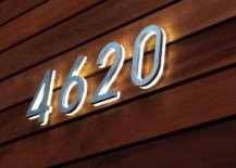 House number with LED backlit