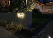 LED Backlit House Number