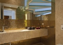 Metallic Bathroom Tiles