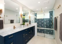 Metallic-accent-combined-with-a-brilliant-navy-blue-vanity-in-the-modern-bathroom-48601-217x155