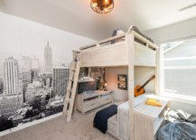 Modern-industrial-boys-bedroom-with-a-lovely-wall-mural-in-the-backdrop-and-a-loft-bed-featuring-study-space-underneath-75736-217x155