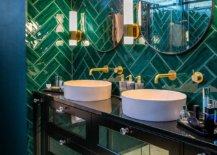 Modern-tropical-style-bathroom-with-dashing-green-tiles-in-herringbone-20231-217x155
