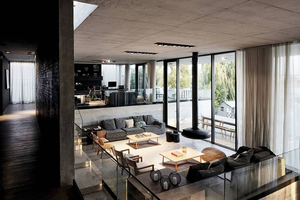 Multi-level-interior-of-the-house-with-study-and-sitting-area-above-and-the-living-space-below-30093