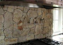 Natural stone backsplash for kitchens