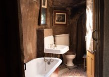Old bathroom with sunroof ceiling