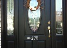 Painted Number on Front Door
