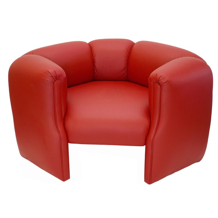 Red circular chair