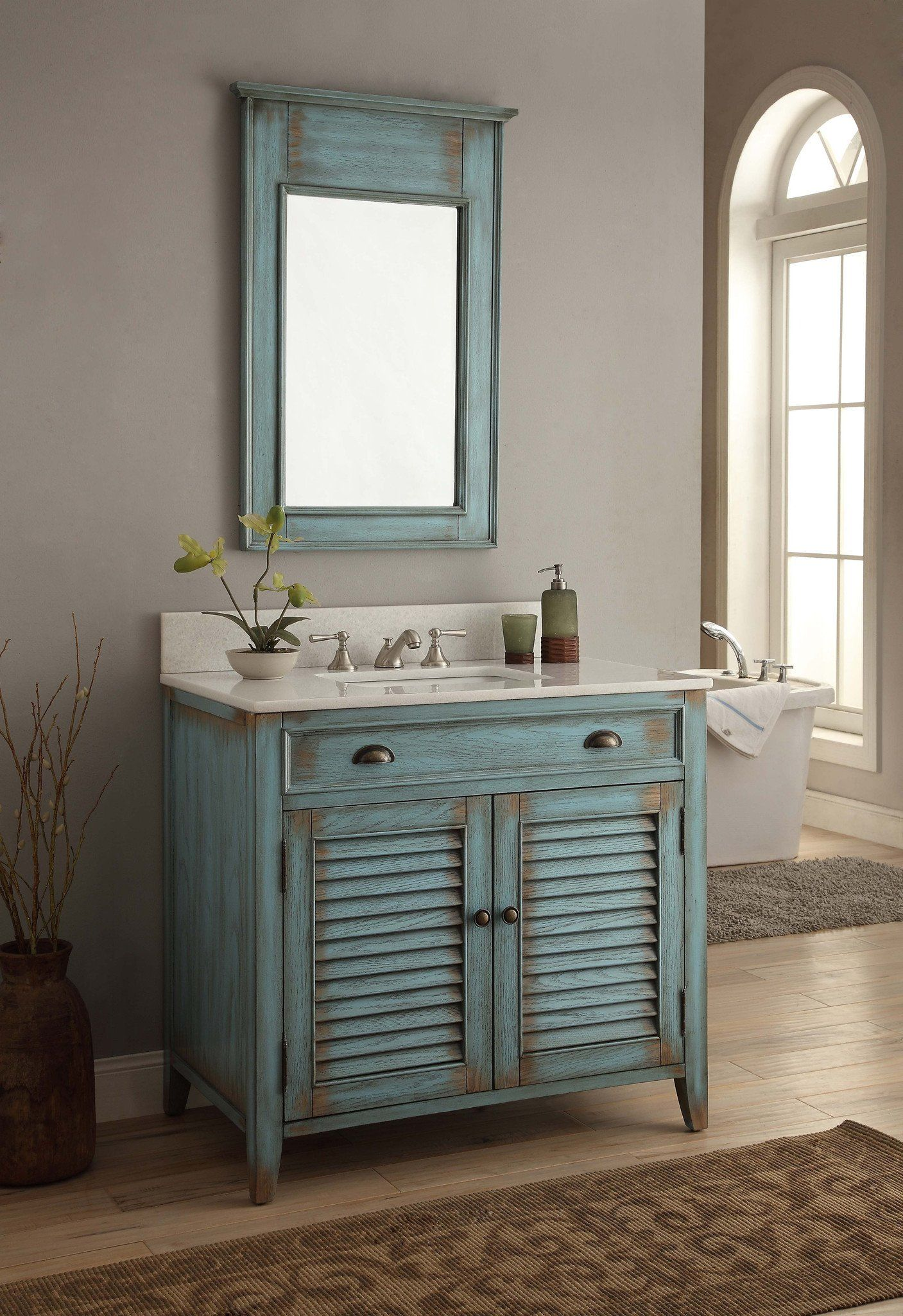 Rustic Bathoom Storage Unit and Mirror