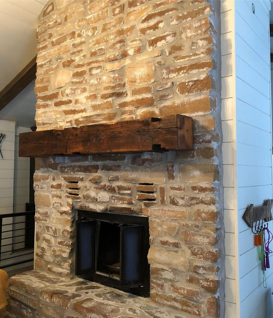 Rustic Mantel for Fireplace