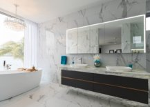 Sleek-and-stylish-contemporary-vanity-in-black-stands-in-contrast-to-the-white-marble-backdrop-99019-217x155