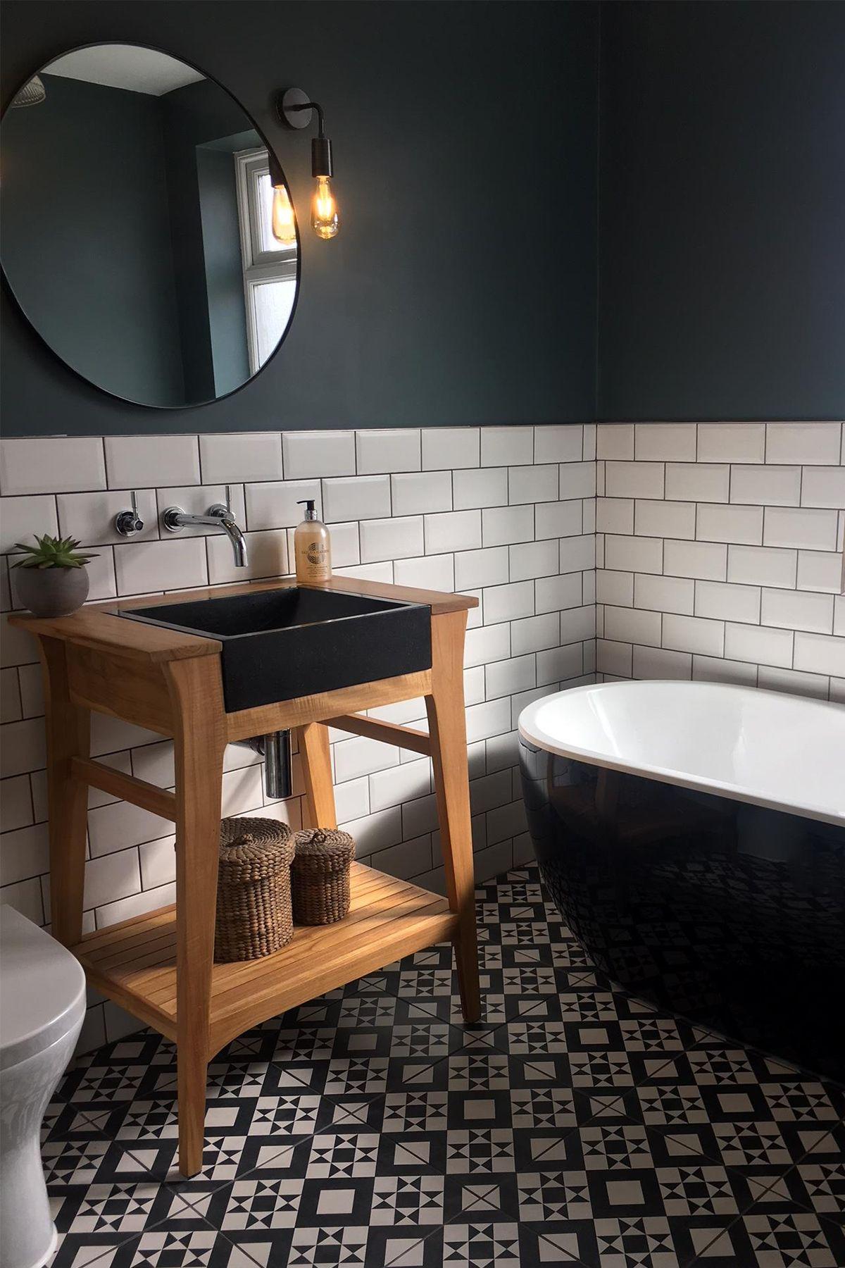 Small, dark bathroom
