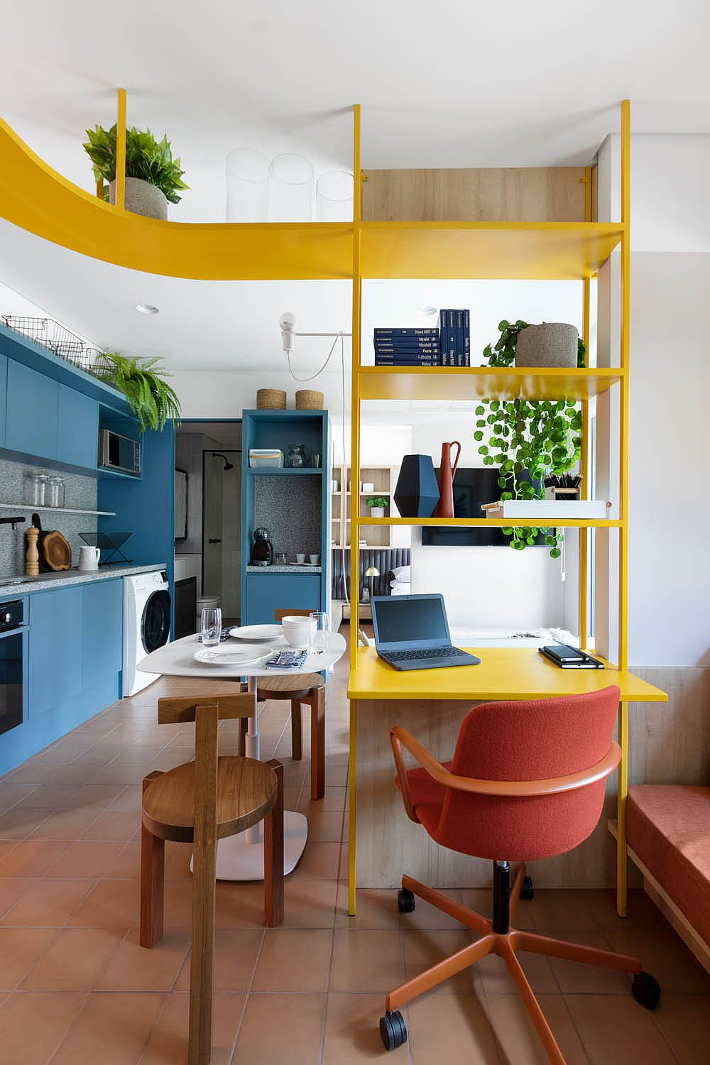 Space-savvy-home-workspace-in-solar-yellow-with-metallic-glitz-64586
