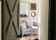 Sponge bedroom accent wall
