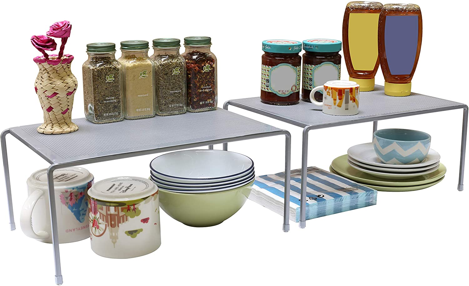 Stackable kitchen organizer with random things