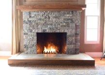 Stone Brick Fireplace