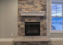 Stone Brick Idea for Fireplace