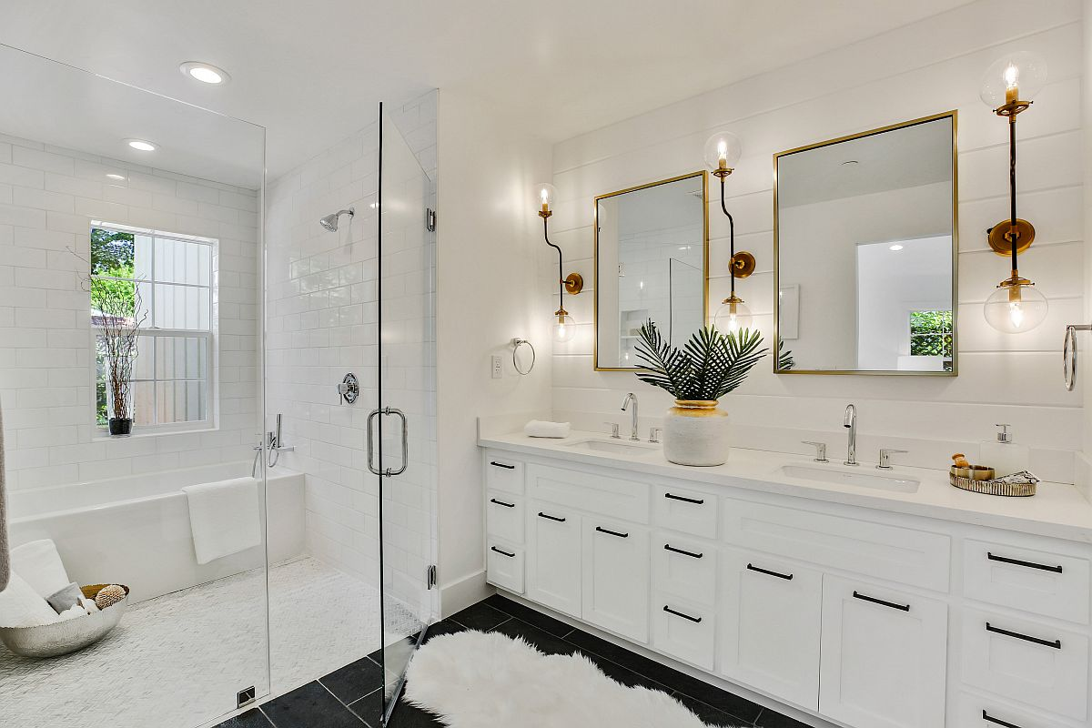 Timeless-modern-bathroom-design-in-white-with-sconce-lights-that-make-an-instant-impact-87741
