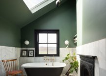 Traditional-bathub-brings-a-black-focal-point-to-this-eclectic-bathroom-in-green-and-white-89901-217x155
