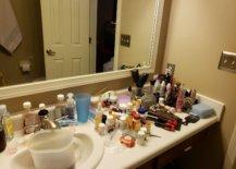 Unorganized bathroom