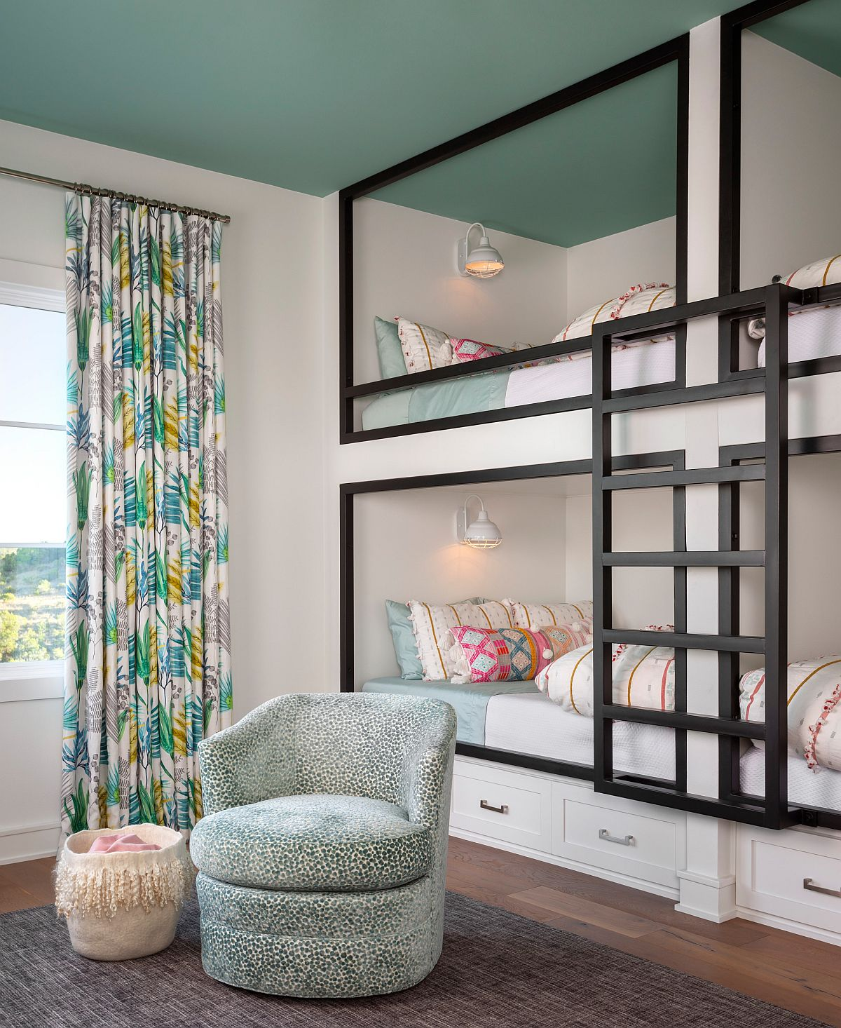 Wall-of-bunk-beds-is-the-perfect-way-to-add-additional-sleeping-space-in-the-kids-room-84717