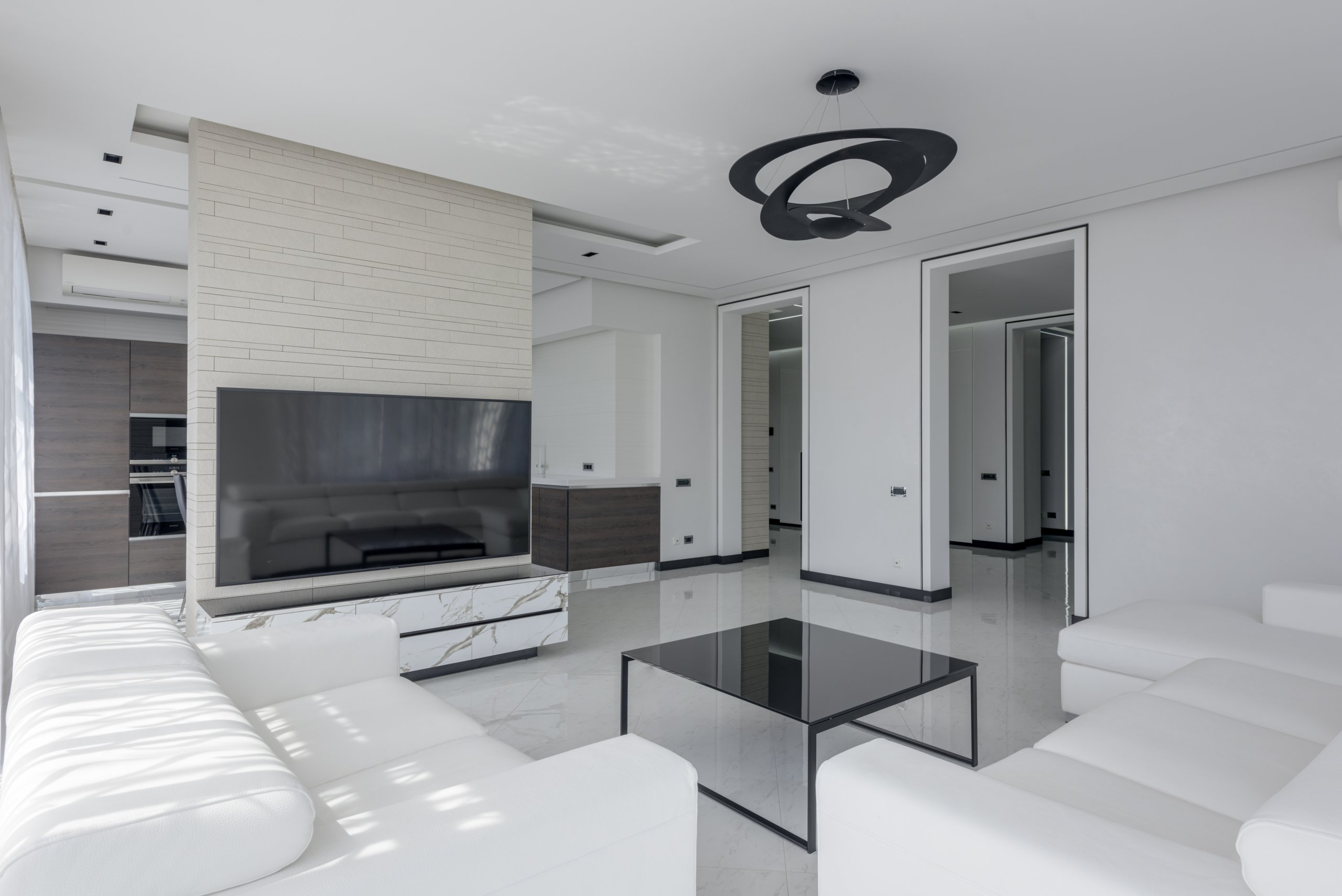 White-themed interior