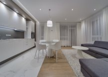 White-themed living space