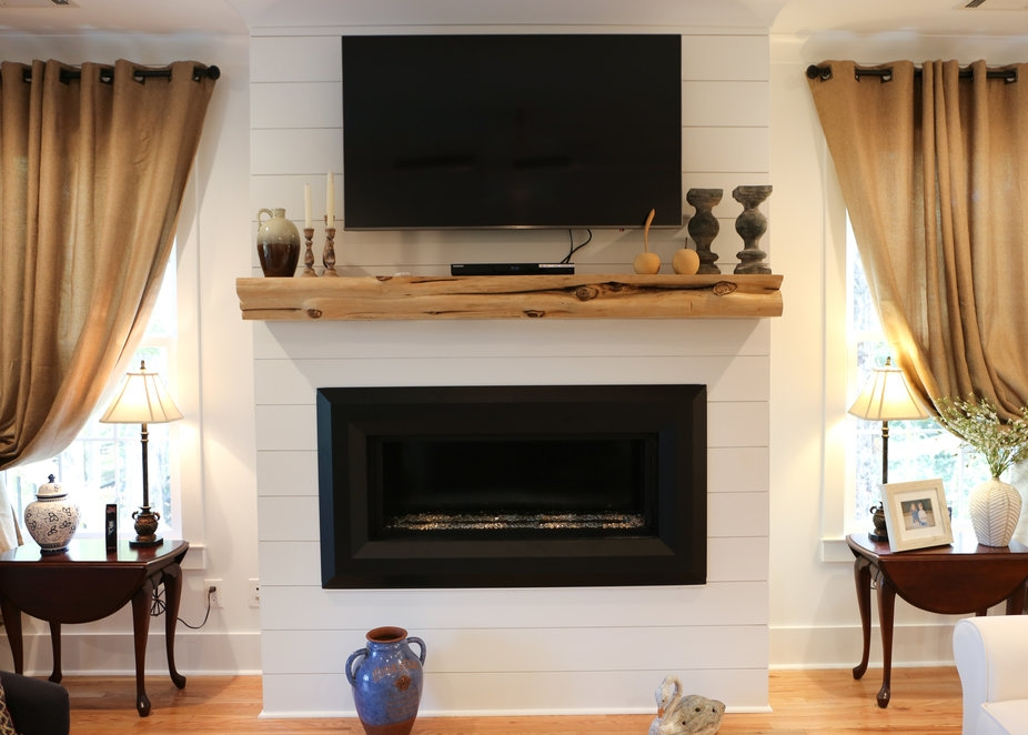 Wooden Mantel for Fireplace