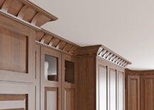 Wooden molding for the ceiling