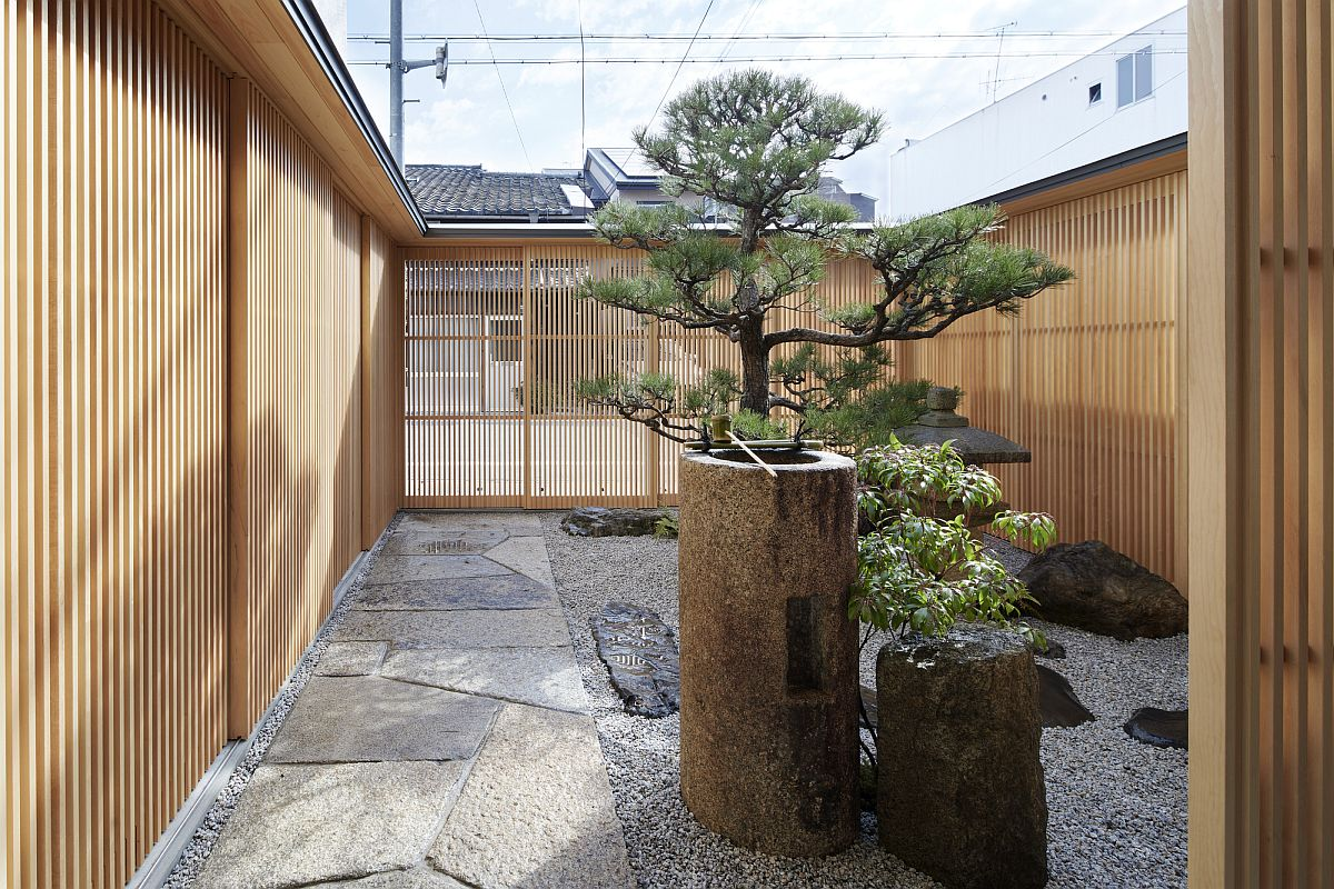 Zen-styled traditional Japanese garden is a great place to rest and relax