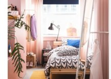 Ikea Mixing Patterns Light Airy Bedroom