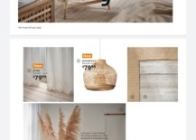 Wooden and Wicker Features from Ikea