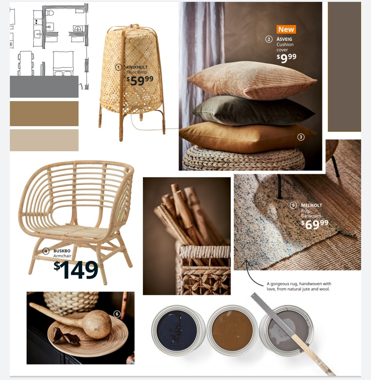 Ikea Colour Scheme and Wooden Features
