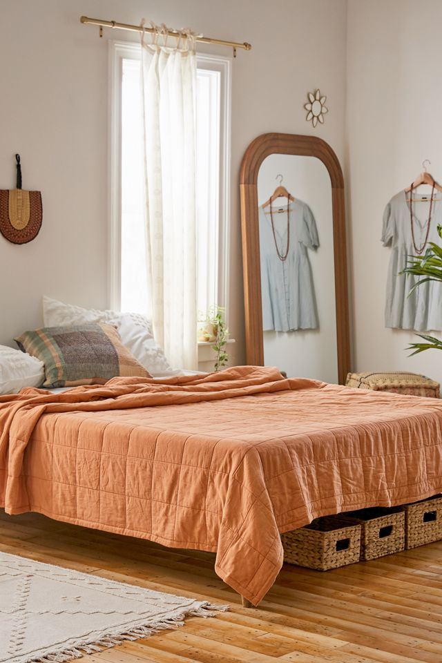 Clay Teracotta Rust Bedding Earth Tones Urban Outfitters Bedroom