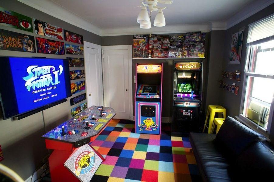 Arcade-like Video Game Room
