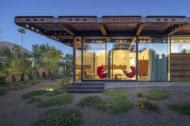 Custom Corten Steel Structural Component Extend this Arizona Home Outdoors