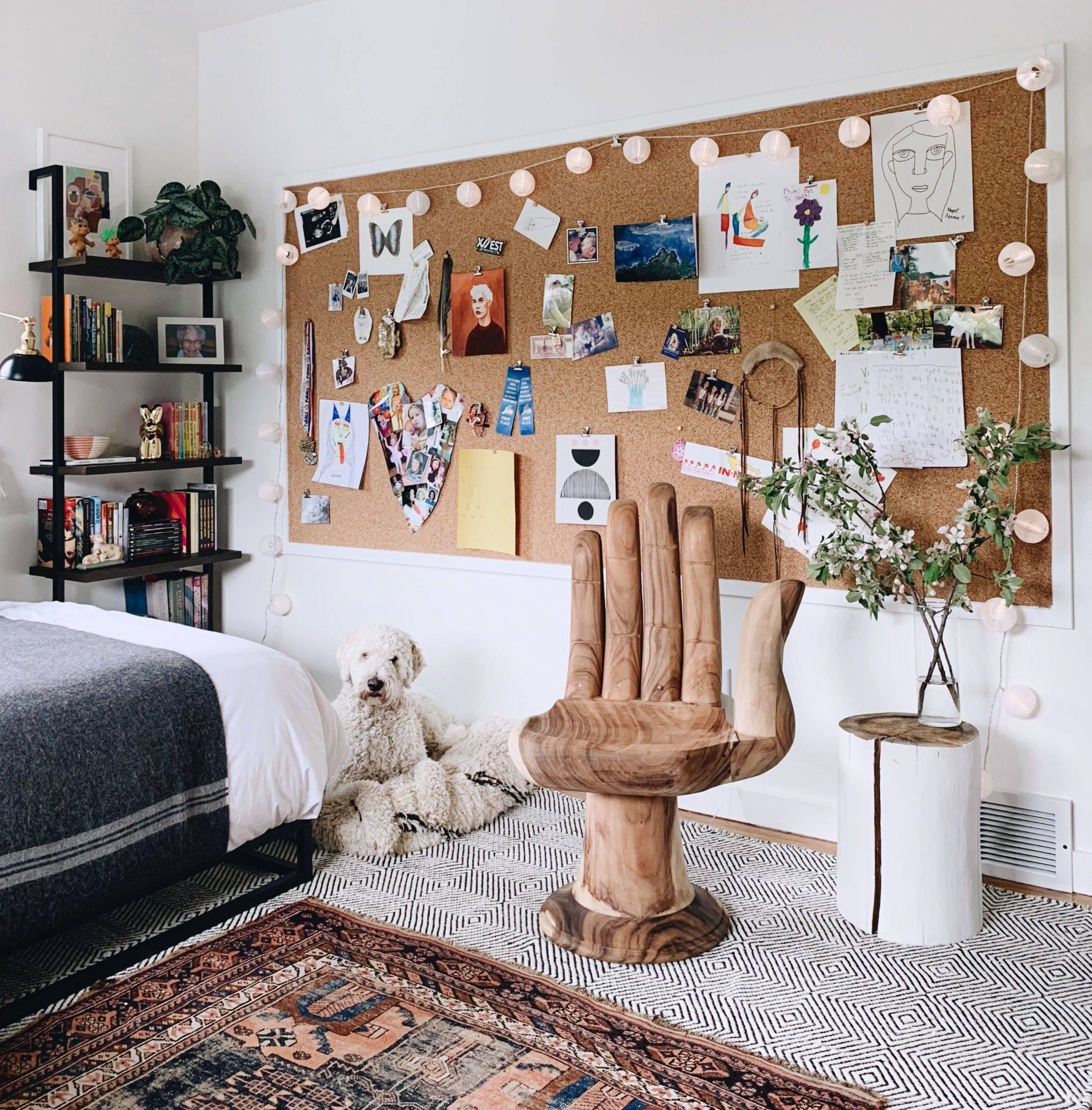 Bedroom Pin Board Organizer