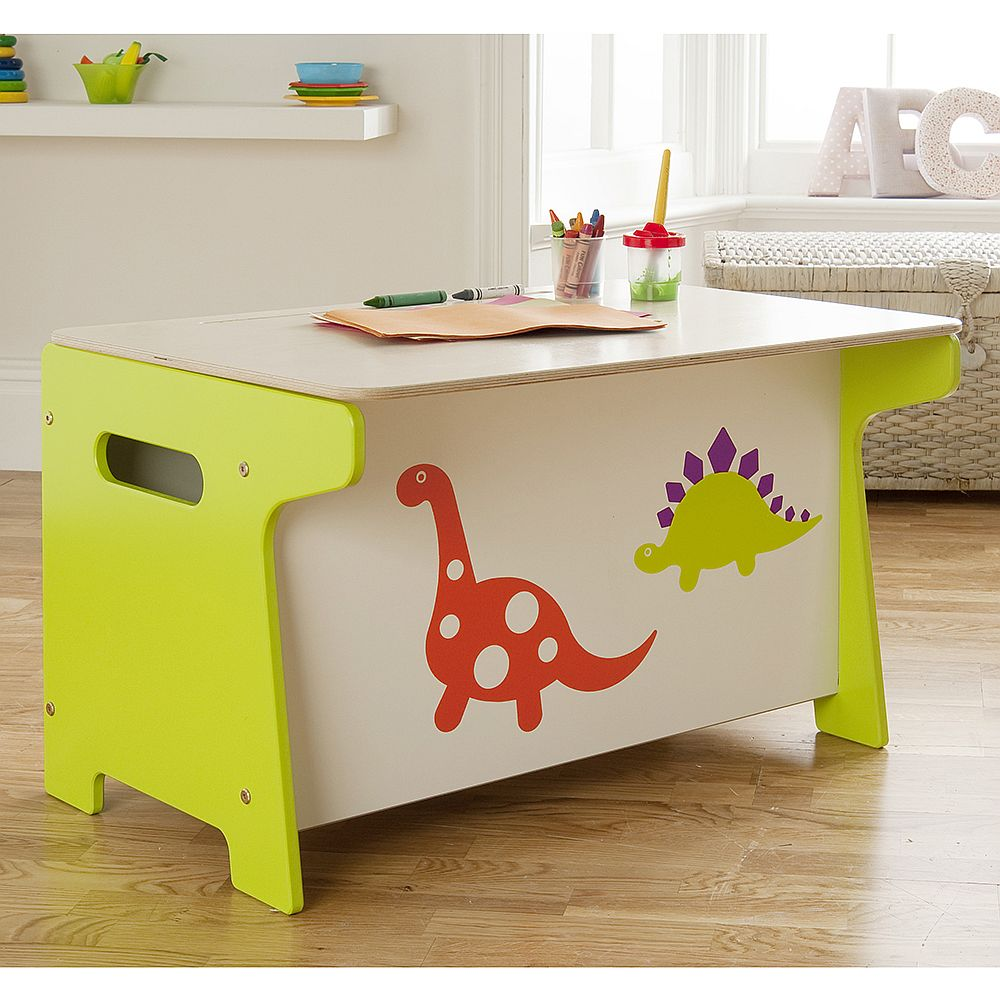 Bespoke work desk for the kids' room also offers storage space inside!