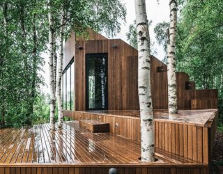 Luxurious Tiny Cabin Getaway in Wood Embraces Nature: Nature Villa