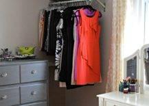 Clothe Rail Beside Dresser