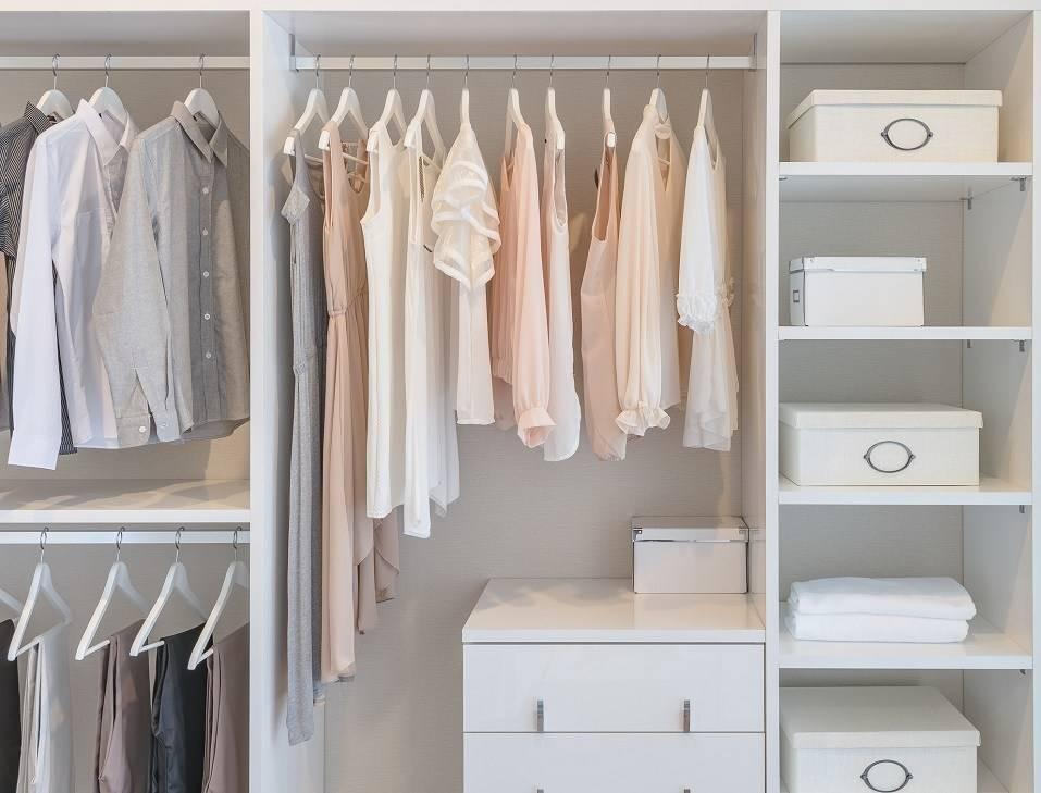 Clothes Rail Above Dresser