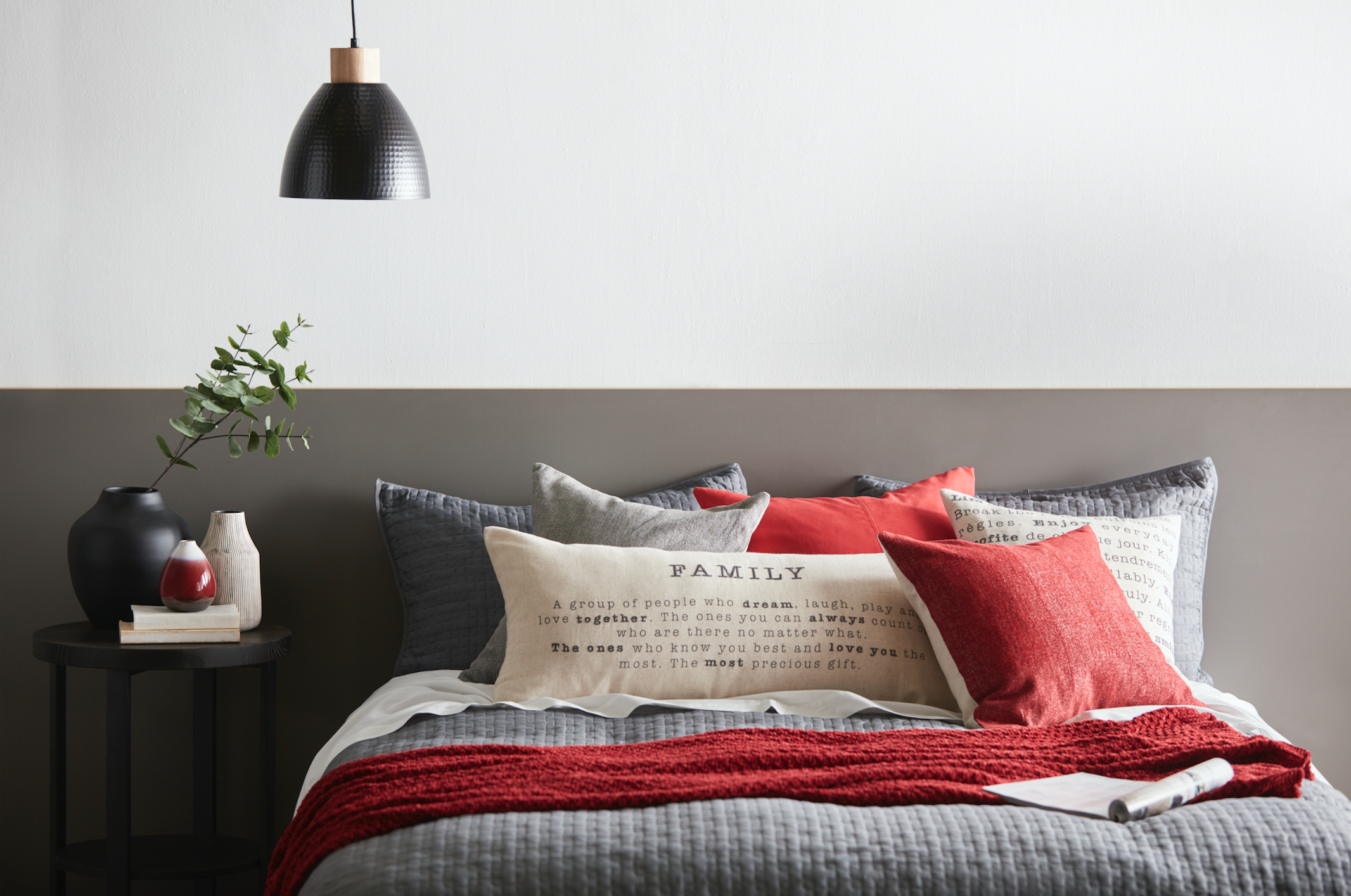 Colorful Pillows with Inscriptions