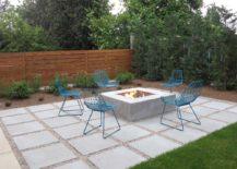Concrete Slabs And Pebbles Floor