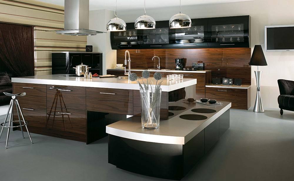 Contemporary kitchen island with stylish design
