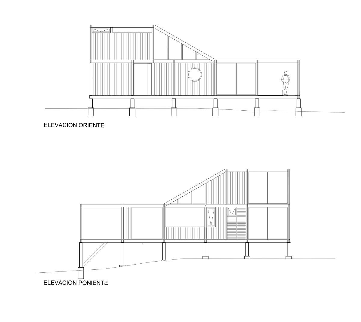 Design plan of the Las Gaviotas House designed by Demo Arquitectos in Chile