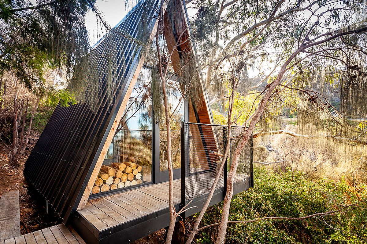 Fabulous custom Treehouse built using recycled materials sits of a lovely green lot