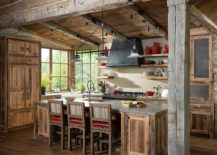 Fabulous-rustic-kitchen-with-wooden-cabinets-weathered-finishes-and-pops-of-red-85054-217x155