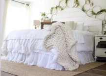 Flower Wreath above Bed