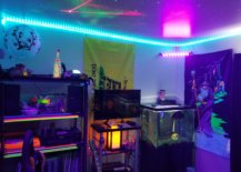 Game Room with LED Lights